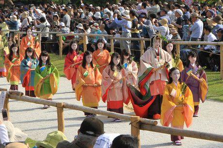 葵祭2018 賀茂街道から上賀茂神社へ
