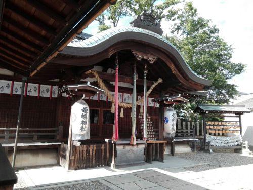 6月12日 姫嶋神社(大阪市)でいただいた月替わりの見開き御朱印