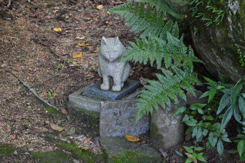 まち歩き笠置1416 笠置寺の道案内 猫