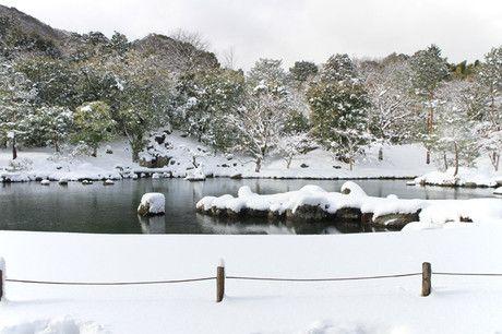 雪の京都 天龍寺