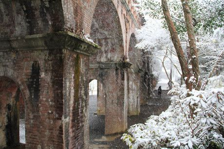 雪の京都 南禅寺水路閣へ