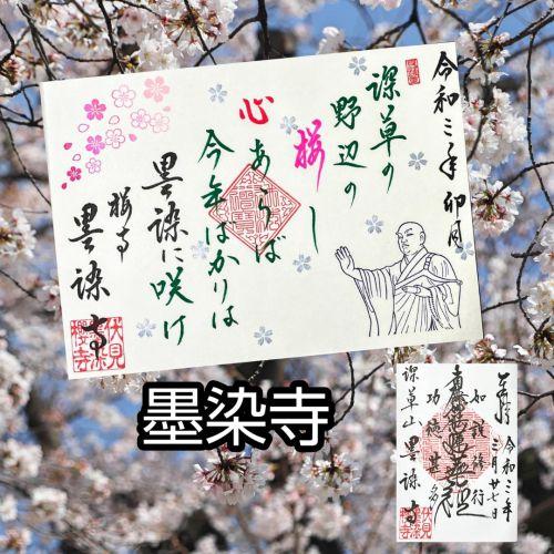 【京都】桜の穴場スポット‼️桜寺「墨染寺」でいただいたステキな【限定御朱印】